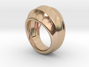 Good Ring 21 - Italian Size 21 in 14k Rose Gold Plated Brass