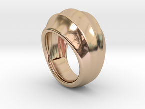 Good Ring 23 - Italian Size 23 in 14k Rose Gold Plated Brass