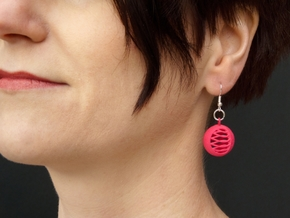 Quark Earrings - Basket in Pink Processed Versatile Plastic