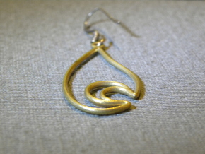 Moon in a Teardrop - Earring in Raw Brass