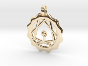 SATURNIAN MUSIC in 14k Gold Plated Brass