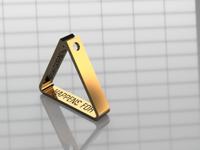 Custom Message Triangle Pendant in Polished Bronze