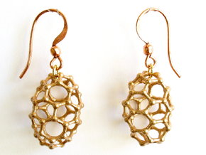 C50 Buckyball earrings in Natural Bronze