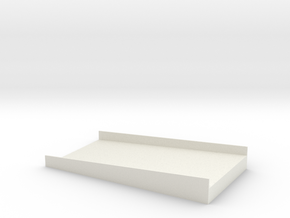 Cargo Roll Door Wall Ramp in White Natural Versatile Plastic