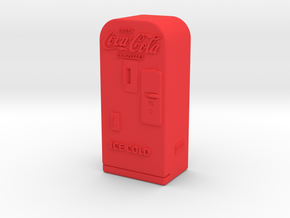 Coke Machine 'O' Scale in Red Strong & Flexible Polished