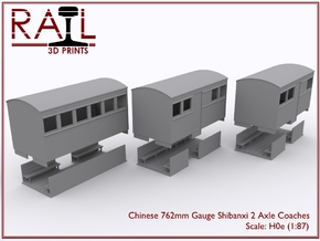 H0e - Chinese Shibanxi 762mm - Coach Pack in Smooth Fine Detail Plastic