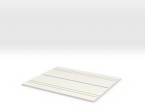 Concrete Security Fences (2) in White Natural Versatile Plastic
