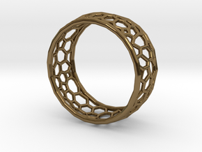 Cellular structure ring in Polished Bronze