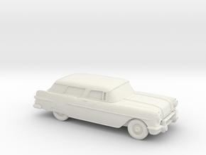 1/87 1957 Pontiac Safari  in White Natural Versatile Plastic