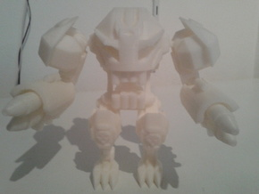 Kmt Skeleton Warrior Complete in White Natural Versatile Plastic