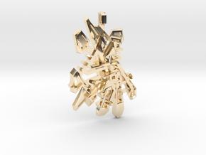 Pendant ONTWAKEN in 14k Gold Plated Brass