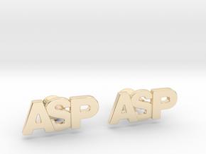 Monogram Cufflinks ASP in 14k Gold Plated Brass