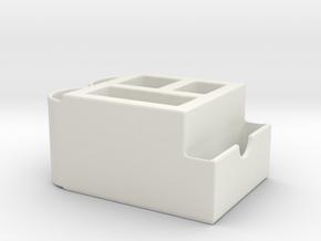 Multipurpose Card Name Desktop Full Color 3D Print in White Natural Versatile Plastic