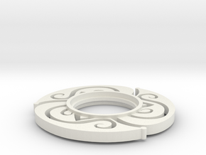 MHS Compatible Floral Tsuba in White Natural Versatile Plastic