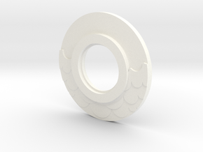 MHS compatible Water Tsuba in White Strong & Flexible Polished