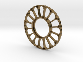 MHS Compatible Imperator Tsuba in Polished Bronze