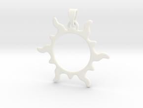 Sun Flare Pendant in White Processed Versatile Plastic
