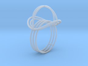 VESICA PISCIS Ring Nº2 in Smooth Fine Detail Plastic