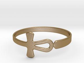 Anhk Bracelet 70 in Polished Gold Steel