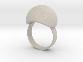 VESICA PISCIS Ring Nº3 in Natural Sandstone