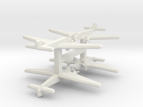 Ju 52/3mge (single) 1:900 x4 in White Natural Versatile Plastic