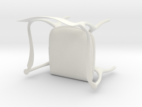Fluffy Chair in White Natural Versatile Plastic