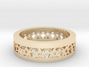 AB061 Star Band in 14K Yellow Gold