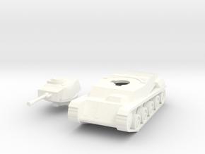 Toldi III No Side Armor Hungarian WW2 Tank 1/100th in White Processed Versatile Plastic