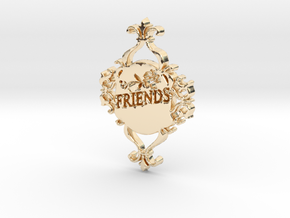 Special Friends Pendant  in 14k Gold Plated Brass