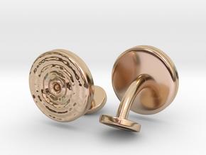 Ripple Cufflinks (pair) in 14k Rose Gold