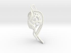 Octa Pendant in White Processed Versatile Plastic