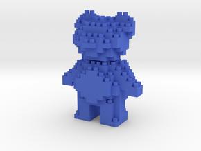 Teddy Bear - Nano Block in Blue Processed Versatile Plastic