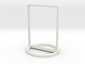 Token Frame Huge in White Natural Versatile Plastic