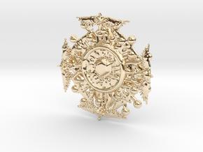 Birds in 14k Gold Plated Brass
