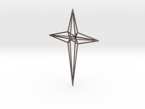 Star 7x5x1 D1 in Polished Bronzed Silver Steel