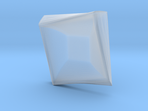 Square plate in Smooth Fine Detail Plastic