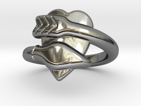 Cupido Ring 17 - Italian Size 17 in Fine Detail Polished Silver