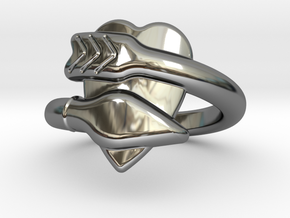 Cupido Ring 18 - Italian Size 18 in Fine Detail Polished Silver