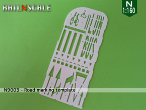 Road marking template BNL (N 1:160) in White Natural Versatile Plastic