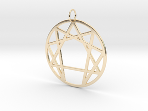 Enneagram Keychain in 14k Gold Plated Brass