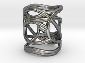 INTERSECTION Ring Nº5 in Polished Silver