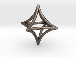 Concave Octahedron in Polished Bronzed Silver Steel