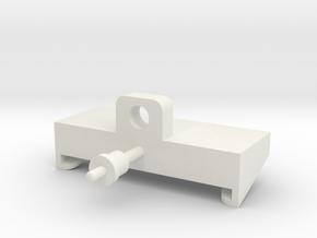 JRRCD Quick-Tach Trailer Adapter in White Natural Versatile Plastic