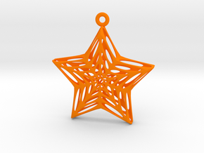 Star Voronoi in Orange Strong & Flexible Polished