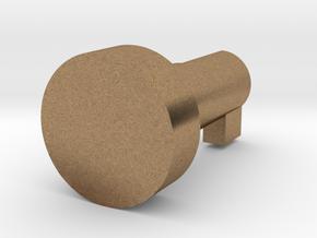 Glovebox Button in Natural Brass
