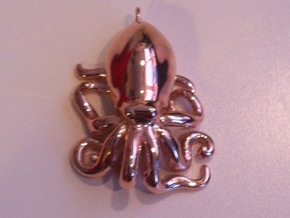 Octopus Pendant in 14k Rose Gold Plated Brass