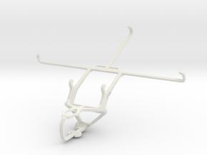 Controller mount for PS3 & Dell Venue 8 in White Natural Versatile Plastic