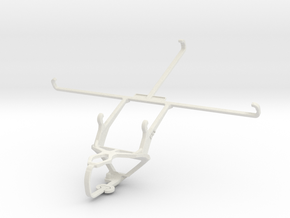 Controller mount for PS3 & Dell Venue 8 Pro in White Natural Versatile Plastic