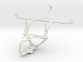 Controller mount for PS3 & Samsung I9505 Galaxy S4 in White Natural Versatile Plastic