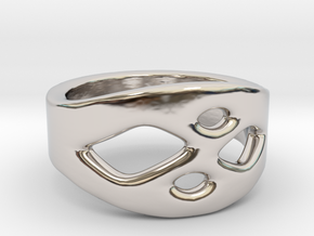 Frohr Design Ring Easy Style in Rhodium Plated Brass